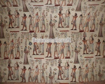 Polyester-Cotton Blend Fabric,The Egyptian pharaoh Pattern, In the Middle East style Yarn-dyed jacquard fabric 1/2 yard(QT803)
