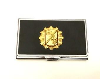 Fleur De Lis Business Card Case, Royalty Business Card Case, Father's Day, Graduation Gift