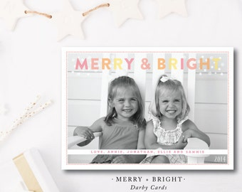 Merry and Bright Bubbles Holiday Photocards