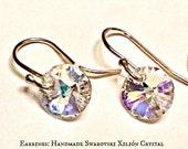 "Women's Earrings:Swarovski Xilión Crystal ,Drop Pendants & 925 Sterling Silver  Earwires ""The Princess' Northern Lights"", ANena Jewelry"
