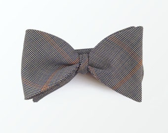 Men's Bow Tie Tartan Bow Tie, Plaid Self Tie Bow Tie, Wedding Tie and Gift for Him/ READY TO SHIP