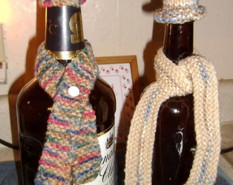 Wine and Liquor bottle scarf and hat