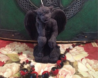 BLACK Beeswax Gargoyle Candle #3