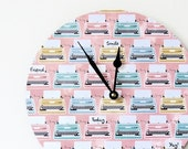 Sale, Unique Wall Clock, Retro Wall Clock, Retro Pink Typewriter, Office Clock, Etsy Wall Decor, Decor, Decor and Housewares, Home and Livin