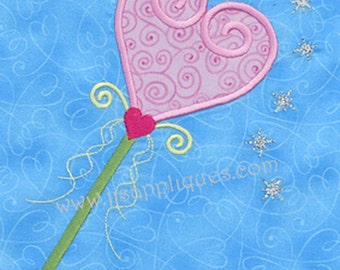 Princess Tiara Wand Applique Embroidery Designs - Princess Wand Applique 4x4 and 5x7 hoops - Instant Download