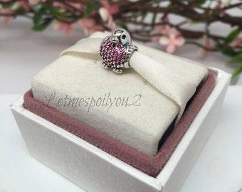 Authentic RED ROBIN Pandora bird Charm For Bracelet