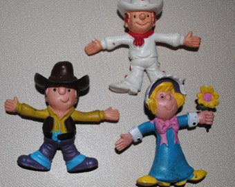Three Vintage Dairy Queen Poseable/Bendable Toys