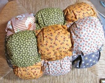 Cotton bolster pillow, handmade pillow, cotton print fbrics - 15