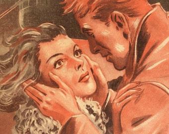 Vintage French 1950s Adventure Novel Magazine AGENTS Film NOIR  Spy LOVE