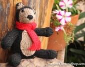 Black Bear, Plush Toy, Natural Teddy, Wool Materials, Christmas Bear