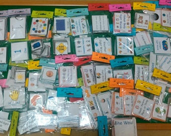 Educational Flash Cards, LAMINATED, Preschool - 2nd Grade Learning, 50 Flashcard Sets, Kids Educational Toy Pre-K, Kindergarten, 1st & 2nd