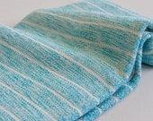 Turkish Towel Bamboo Peshtemal Towel Sprinkled Peshtemal in Turquoise Color Pure Soft