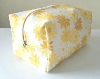 Yellow Waterproof Makeup Bag - Cosmetic Bag - Water Resistant Bag