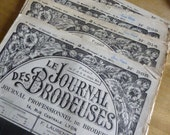 4 French Embroidery Pattern Magazines, Vintage, Le Journal Des Brodeuses, C 1930's