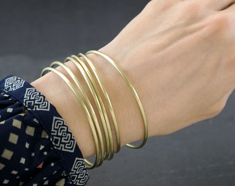 GLOW - BRASS BANGLE - one to six bangles