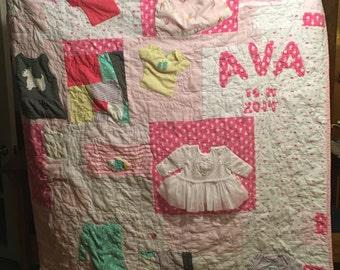 Custom baby cloths quilt