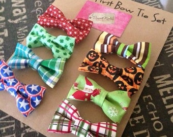 Bow Tie- Baby Bow Tie- Baby's First Bow Tie Set
