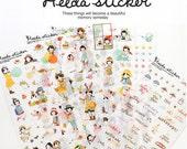 Diary Scrapbook Sticker Label Heeda Ver 1