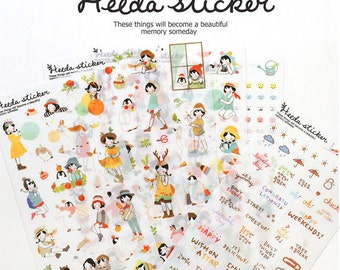 Diary Scrapbook Sticker Label Heeda Ver 1