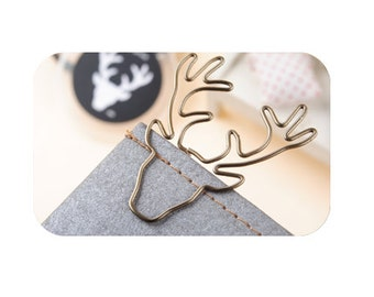 DIY Scrapbook Dairy Retro Paper Clip Deer Antlers (Set of 2 pcs)