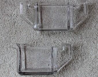 Rare Vintage Art Deco Cream and Sugar Set Pale Lavender Glass