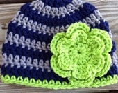 Seahawks inspired hat for girls and boys