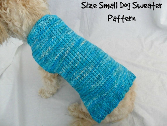 Knitting Pattern For A Small Dog Coat : Simple dog sweater knitting pattern PDF small dog sweater
