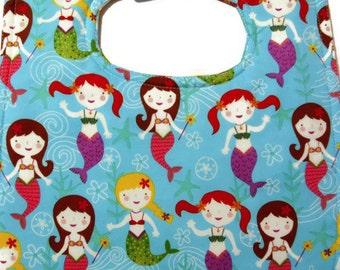 Toddler Girl Bib - Mermaid Bib - Large Bibs - Special Needs Bib - Waterproof Bibs - Custom Bibs -  Children's Bibs - Feeding Accessories