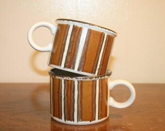 2 Vintage Coffee Mugs,ceramic mugs,ceramic cups,vintage mug,vintage cup,vintage kitchenware,2 mugs,cup of joe,cup of tea,tea cup,coffee cup