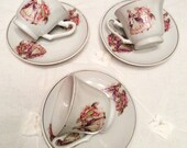 French Porcelain Tea Cup Duette Courting Couple SPRING SALE