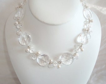 Swarovski 22mm Twist Crystal Bridal Necklace