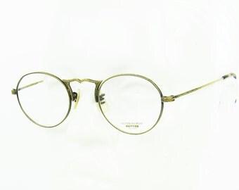OLIVER PEOPLES  op-7 AG  Hand Engraved Filigree Antique Gold Frame