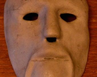 Vintage Aluminum Art Mask