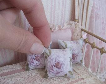 1/12 Doll house pillow. Handmade miniatures pillows for dollhouse
