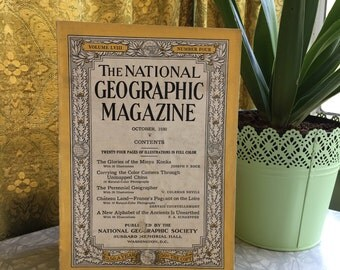 October 1930, Vintage Magazine, National Geographic, Vintage Photography, Vintage Photos