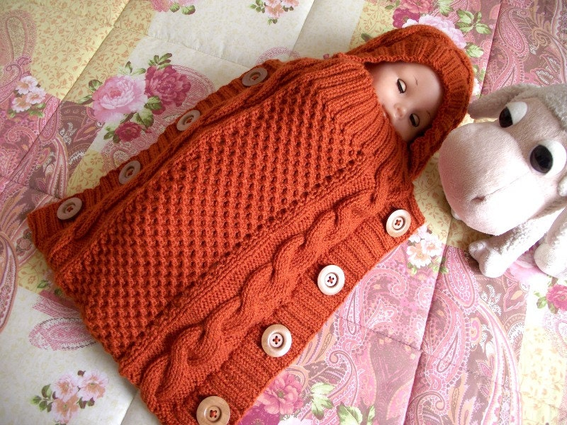 KNITTING PATTERN Baby Cocoon Sweet Snuggle Baby Cocoon pdf