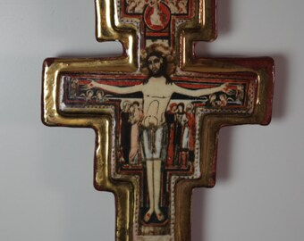 Vintage Ceramic Cross