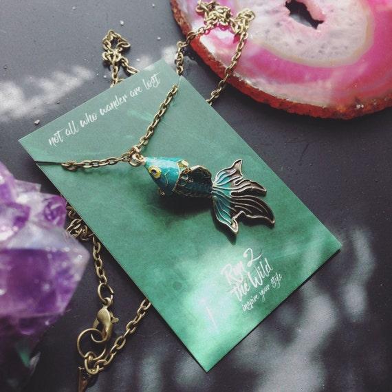 Good luck koi fish charm necklace for Koi fish good luck