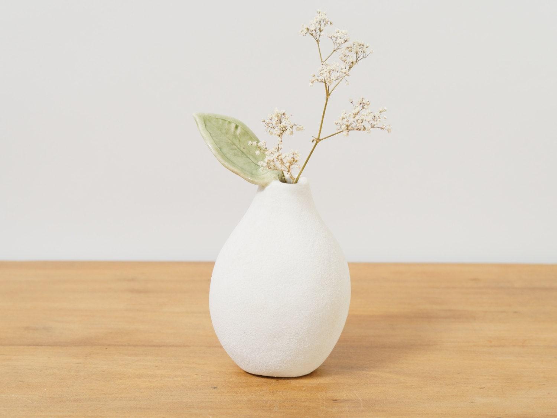 White Ceramic Vase Flower