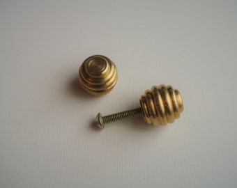 Petite Beehive Brass Drawer Pull / Knob - Sold in Pairs