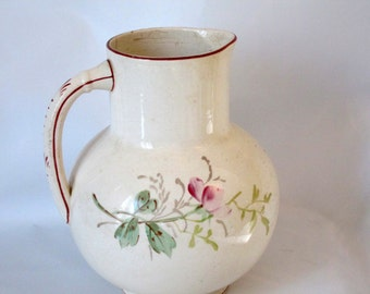 Antique Washbasin Pitcher.150 Years Old. Beautifully handpainted.Remarkable Condition.