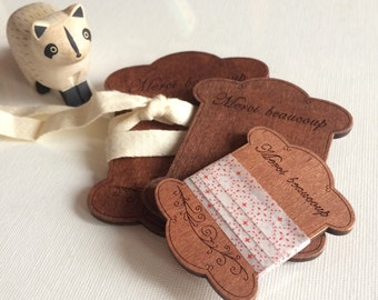 SALE. Was 3.85. Now 2.99. Set of 3 WOOD SPOOL for thread, lace, ribbon or masking tape