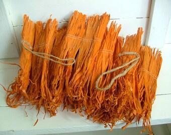 Orange Cornhusk Garland