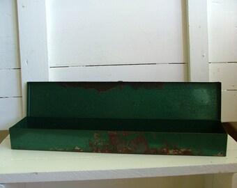 Green Vintage Metal Tool Box/Garden Decor