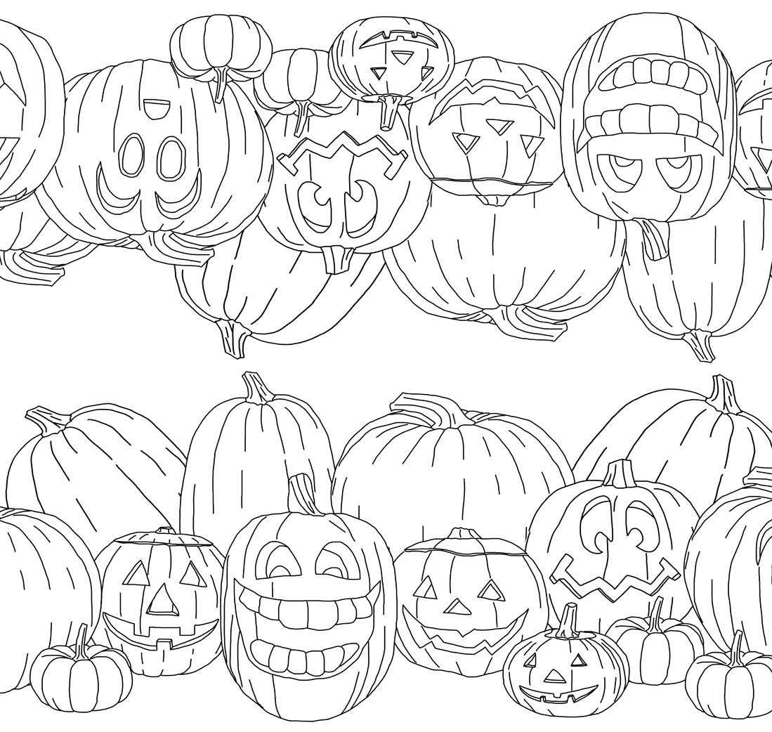Halloween Party Decorations, Table Runner Coloring Page from ...