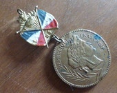 Antique French Medal with Military Soldiers Conscription Award Tirage Au Sort 1897