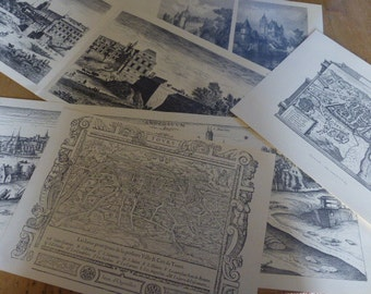 10+ Large Prints of French Castles and Towns Ideal for Framing