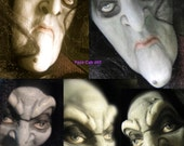 YOUR CHOICE - Polymer Clay Creepy Character Doll Face Cabochon Casting - Witch, Warlock by Art of Two M's