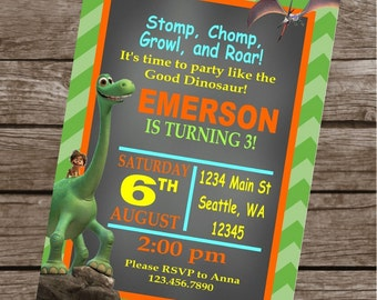 THE GOOD DINOSAUR Inspired Happy Birthday Party Invitations Set of 12 {1 Dozen} - Party Packs Available