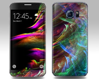 AURORA Galaxy Decal Galaxy Skin Galaxy Cover Galaxy S6 Skin, Galaxy S6 Edge Decal Galaxy Note Skin Galaxy Note Decal Cover